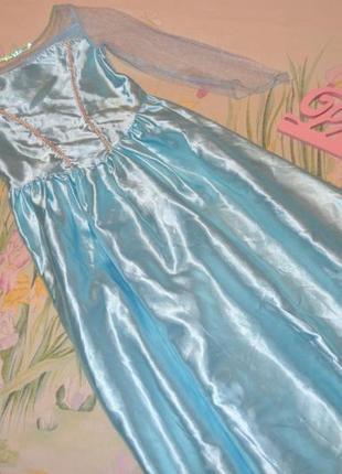Платье эльзы 7-8 лет