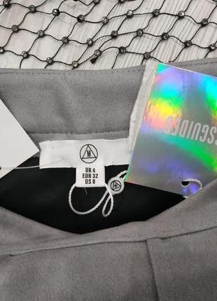 ❤️розпродаж sale до 7.07❤️ замшевая мини юбка со складками5 фото
