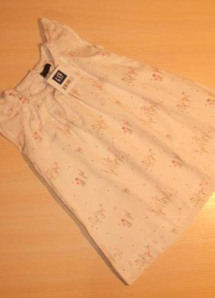 Нарядное белое платье, сарафан  gap, 1,5-2 года 86-92 см, оригинал