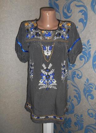 Красивая блуза, вышивка гладью