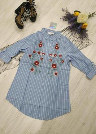 🔥🔥🔥тотальний розпродаж літа до 21-го серпня🔥🔥🔥  мини платье с рукавами и вышивкой3 фото