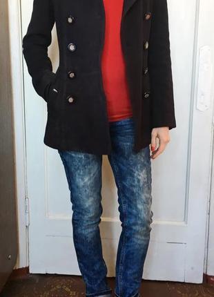 Пальто xs синее, пальто женское