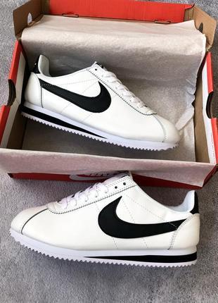 Шикарные мужские кроссовки nike cortez white/ black  😍 (весна/ лето/ осень)