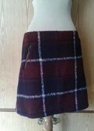 Пушистенькая юбка в клетку, xl.2 фото