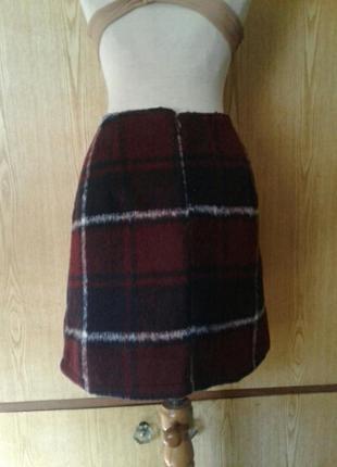 Пушистенькая юбка в клетку, xl.3 фото