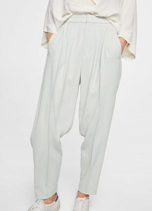 Брюки mango штаны летние брюки светлые на весну штаны классические брюки
