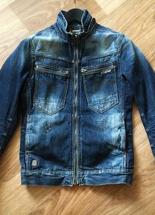 Джинсовый пиджак мужской g-star м с куртка котонка