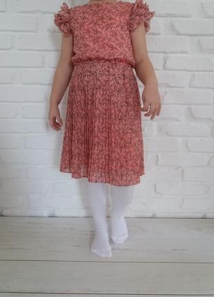 Нежное платье с плиссировкой tu 6 лет   5.27