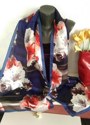 Резерв!!американский модный бренд,шелковый шарф vince camuto,182*45