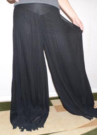 Плиссированная юбка-брюки, палаццо, кюлоты