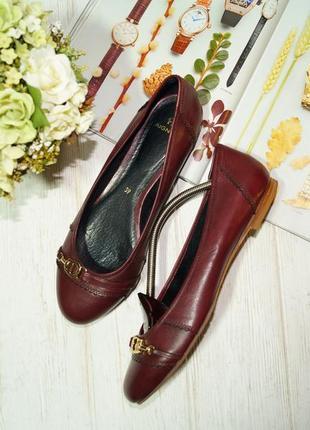 Aigner. кожа. комфортные базовые туфли на низком ходу
