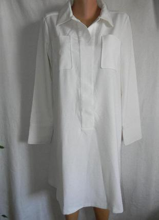 Белое платье рубашка jaspre conran