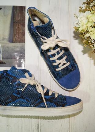 (38/25см) my sweet shoe кожа/замша стильные высокие кеды, спортивные ботинки