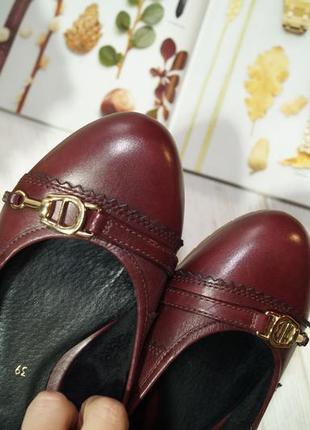 Aigner. кожа. комфортные базовые туфли на низком ходу4