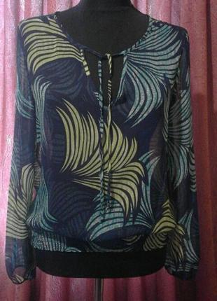 Полупрозрачная цветная блуза