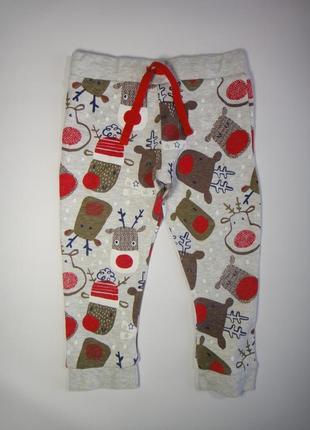 Новогодние штаны f&f 12-18 мес, 86 см