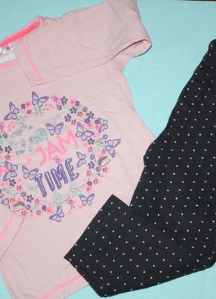 Очаровательная котоновая пижама ф.m&co на ребенка 3/4года  в отличном состоянии