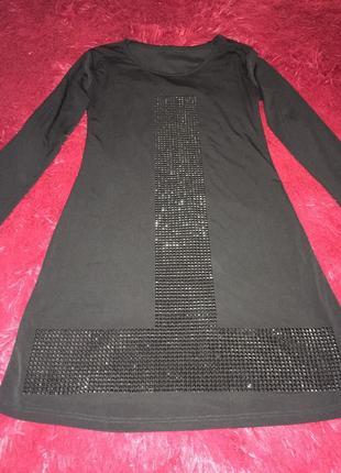 Платье чёрное нарядное вечернее