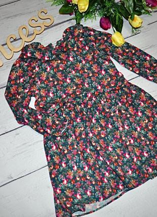Летнее стильное платье next в цветах