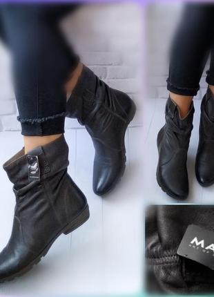 39р кожа! новые германия marc, серые сапоги, ботинки, утепленны