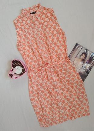 Платье-рубашка  туника в пальмах /сарафан от atmosphere