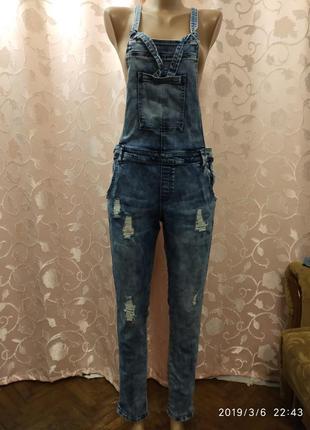 Комбінзон джинсовий