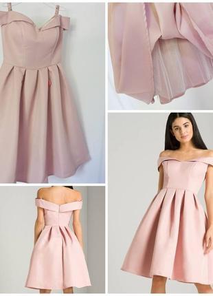 Платье нежно-пудрового цвета