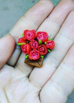 Подвеска букет цветов цветы