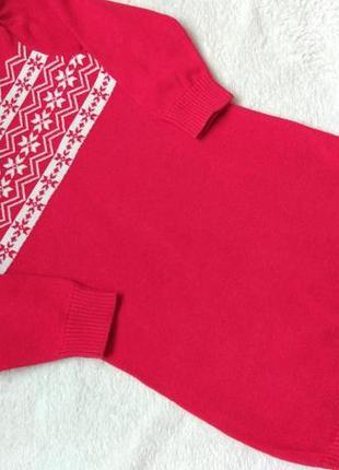 Теплое вязаное платье туника berti на 2 года рост 92 см