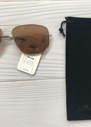 Object sunglasses. солнцезащитные очки в золотой оправе2 фото
