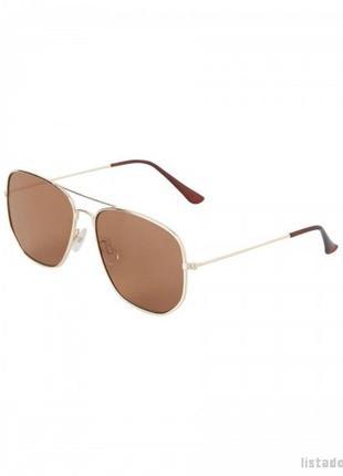 Object sunglasses. солнцезащитные очки в золотой оправе1 фото