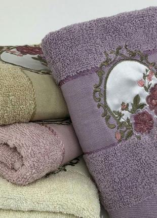 Комплект банных полотенец махра 8 шт