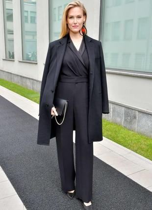 Черные брендовые брюки- палаццо из 100% шелка от giorgio armani-оригинал