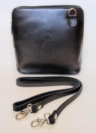 Сумочка кроссбоди сумка vera pelle клатч кожа3 фото