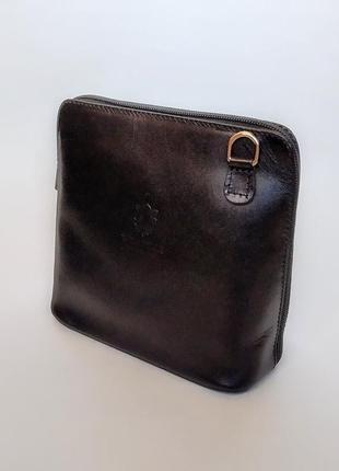 Сумочка кроссбоди сумка vera pelle клатч кожа5 фото