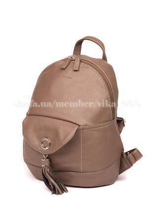 Рюкзак в городском стиле david jones 5637 темно-бежевый2