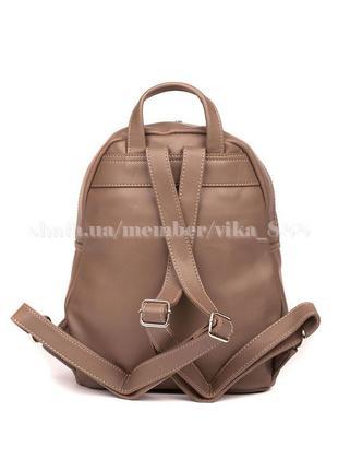 Рюкзак в городском стиле david jones 5637 темно-бежевый4