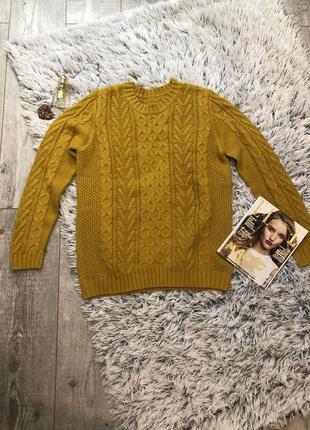 Джемпер ovs горчичного цвета, свитер горчичный.