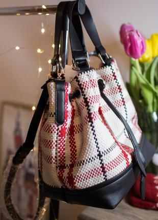 Рюкзак-сумка в клетку италия