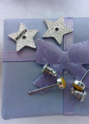 Серьги гвоздики в виде звездочки5 фото