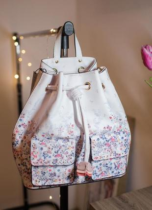 Рюкзак-сумка сумочка с цветочным принтом парфоис италия