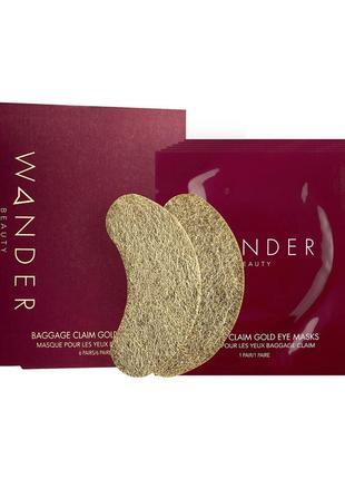 Золотые патчи под глаза wander beauty baggage claim gold eye masks