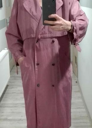 Тренч из непромокаемой ткани фирмы сanda (c&a) размера s-m