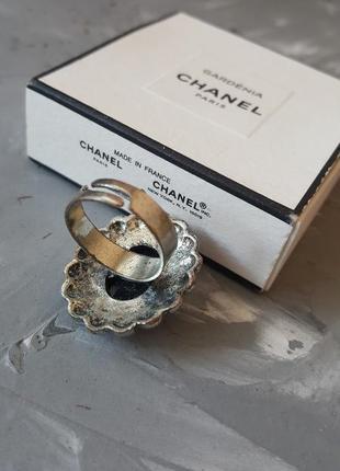 Кольцо черное граненое бохо богемный винтажный ретро стиль овальное круглое камень8