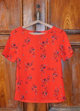 Яркая шифоновая блуза m&s p 8