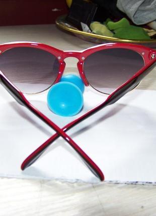 Солнцезащитные очки антиблик полуободковые черно-красная оправа серо-дымчатая линза италия5 фото