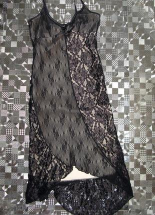 Красивый кружевной пенюьар (ночная сорочка, ночнушка) miss ewing р.s