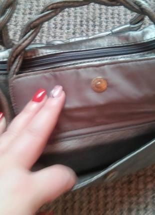 Новая серебристая сумочка2 фото