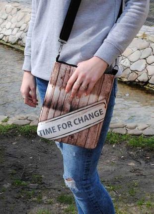 "Сумка через плечо ""time for change"""