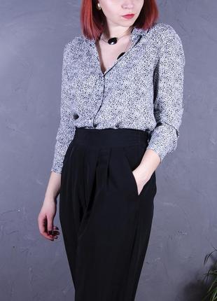 Классическая блуза с принтом, черно-белая рубашка со звериным принтом  mango